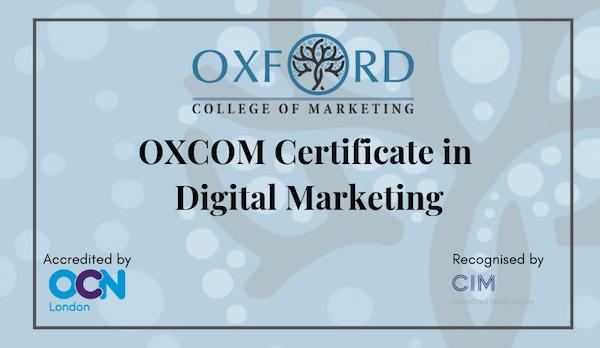 OXCOM Certificate in Digital Marketing