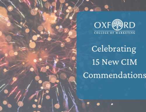 Oxford College of Marketing Gains 15 Additional Commendations From CIM